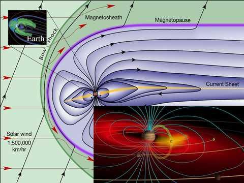 artist's concept of Io's volcanic gases