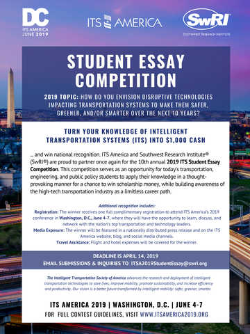 ITS America student essay poster 2019