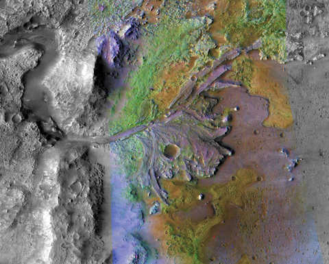 Image of the Jezero crater