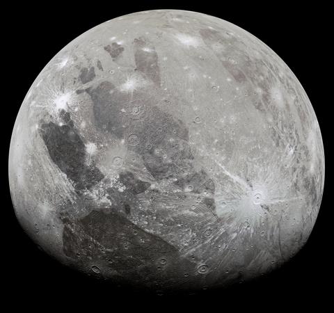 Image of Ganymede against a black background