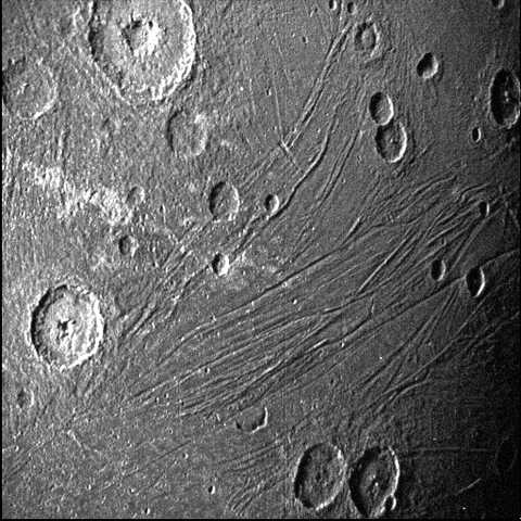 Dark side of Ganymede obtained by Juno's Stellar Reference Unit navigation camera during its June 7, 2021, flyby of the moon
