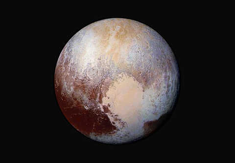 composition and texture of Pluto's surface