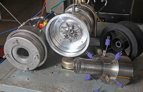 SwRI-developed cooled, radial gas turbine