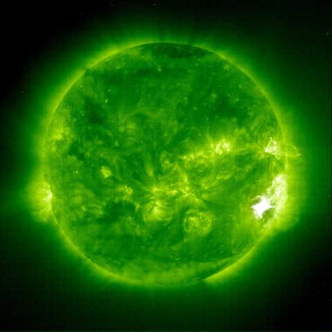 solar flare indicates the presence of ionizing radiation