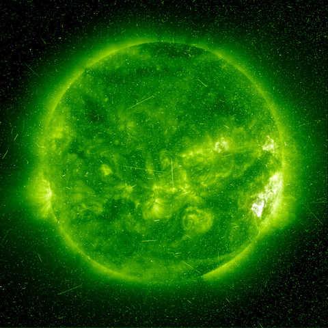 solar flare indicates the presence of ionizing radiation on the Sun