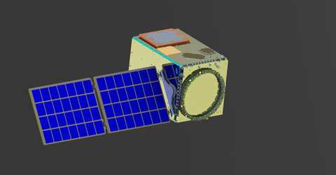 Computer image of Southwest Research Institute's 100 kg-class small satellite platform