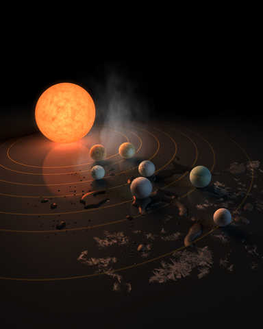 Star TRAPPIST-1 and nearby planets