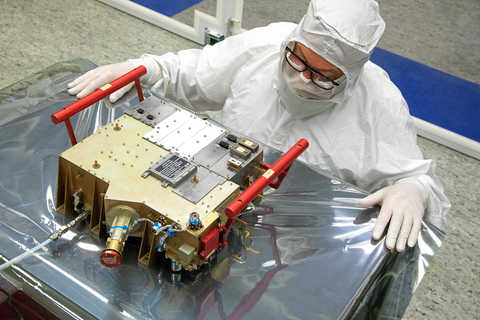 Ultraviolet Spectrograph (UVS) packaged for delivery and integration onto the European Space Agency's JUICE spacecraft