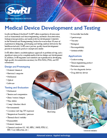 Go to medical device development flyer