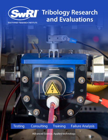Go to tribology research and evaluations brochure