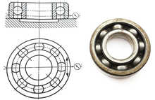 Drawing with a bearing