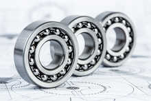 ball bearings on a technical drawing