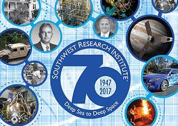 SwRI 70th anniversary poster