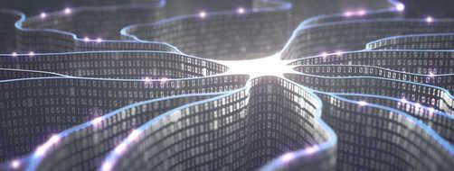 Artificial intelligence neural network artist concept