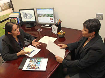 SwRI representative provides answers to questions regarding career opportunities and working at SwRI
