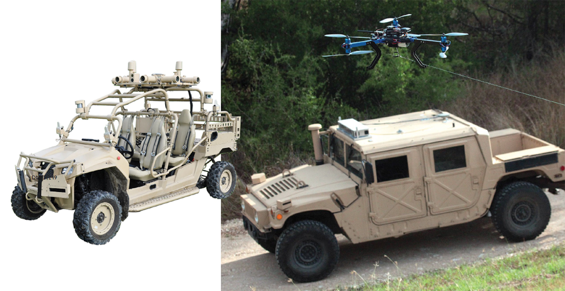 Automated vehicles design to remove troops from hazardous situations