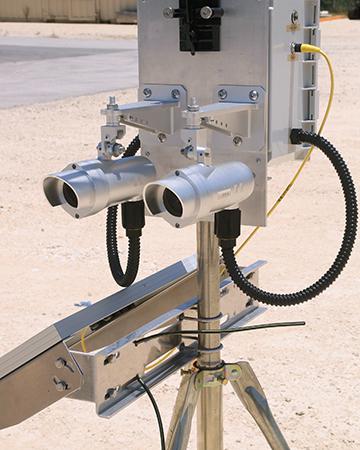 Two-gun laser methane detection system