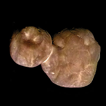 Ultima Thule, showing reddish brown hue