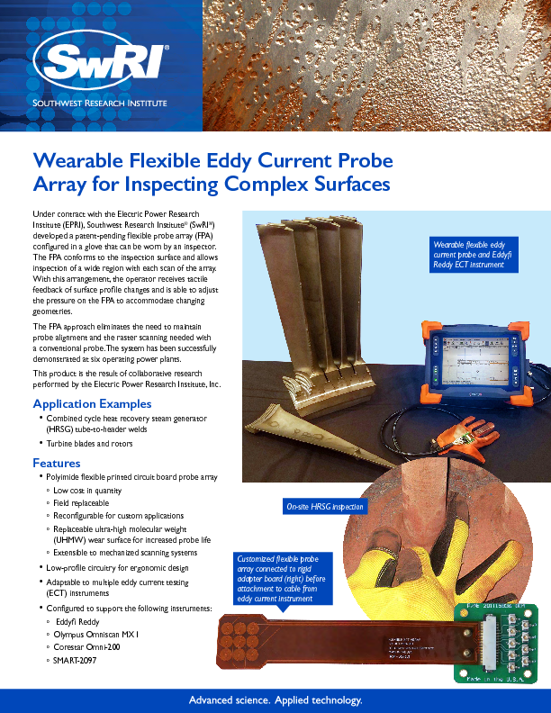 Go to Wearable Flexible Eddy Current Probe Array for Inspecting Complex Surfaces flyer